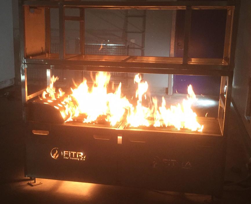 Med den nya tekniken kan en brand i säng simuleras med verkliga lågor.